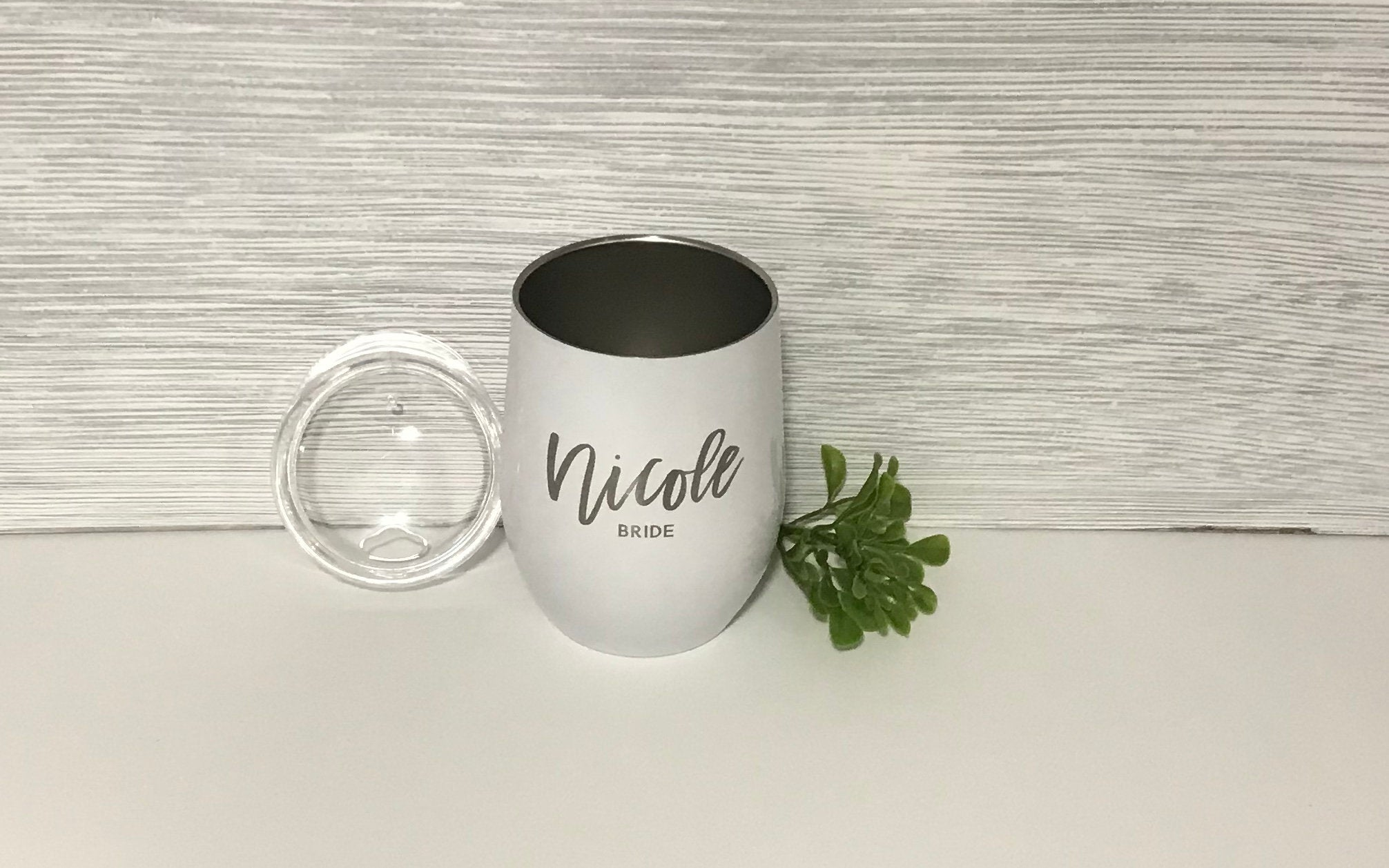 Personalized Wedding Party Stemless Wine Tumbler