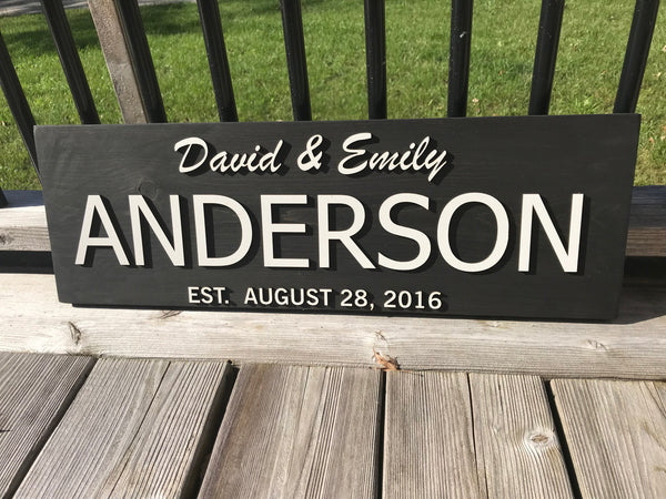 Personalized Last Name Sign 6
