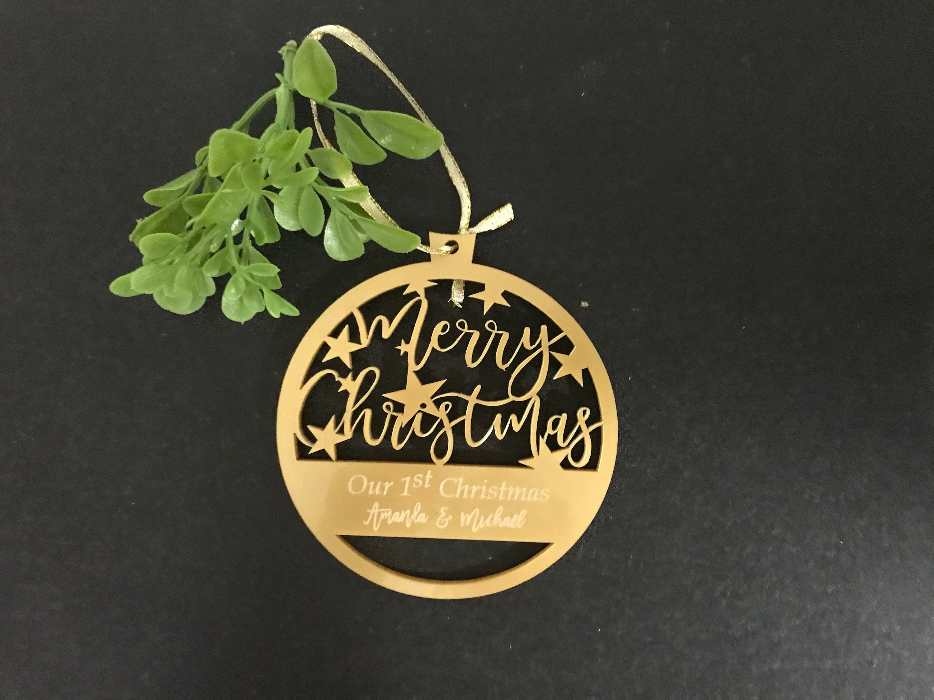 Laser Cut Acrylic Christmas Tree Personalized Ornament