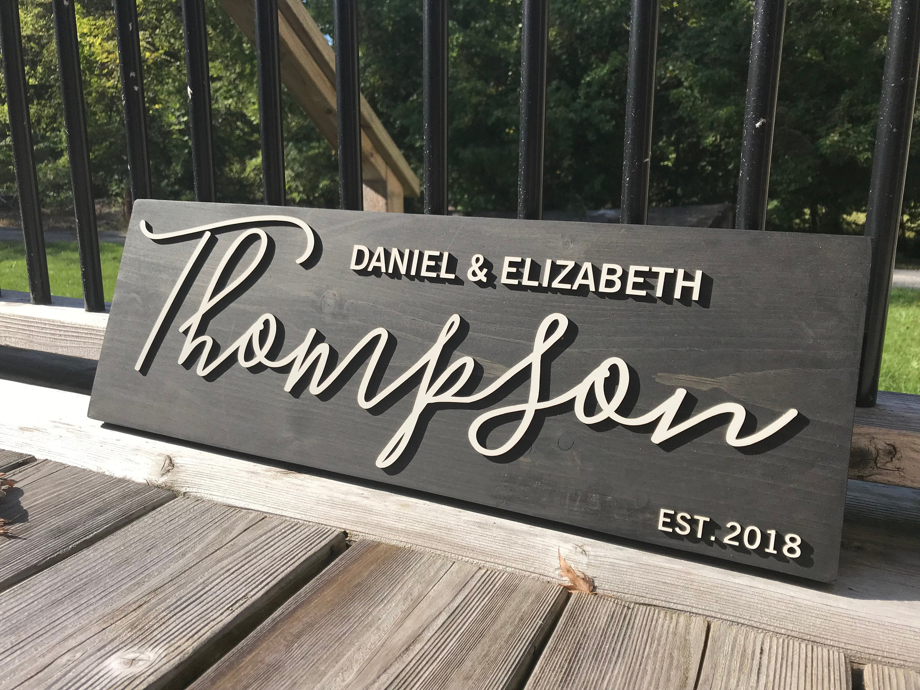 Personalized Last Name Sign 2