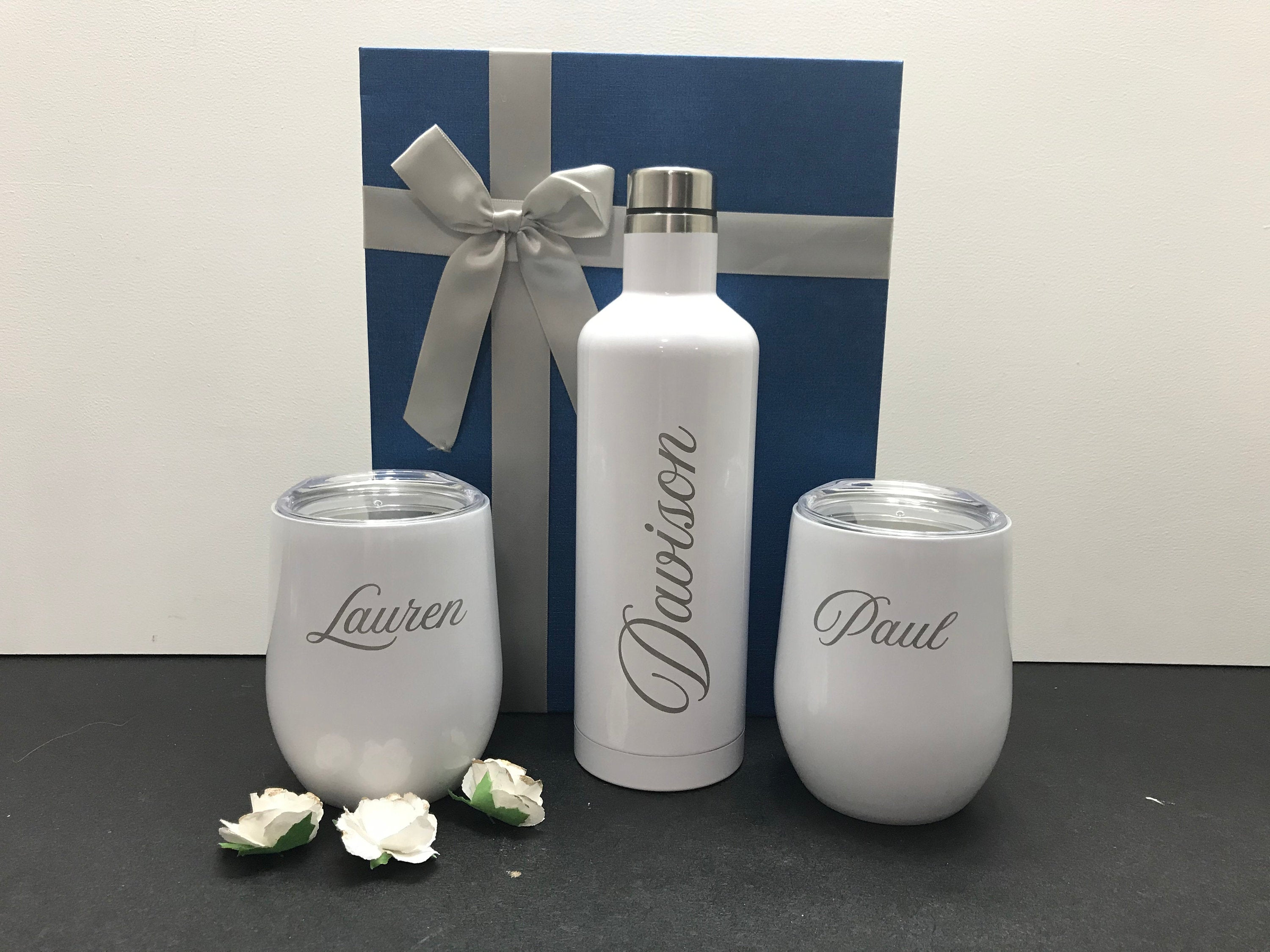 Personalized Wine Tumbler Gift Set
