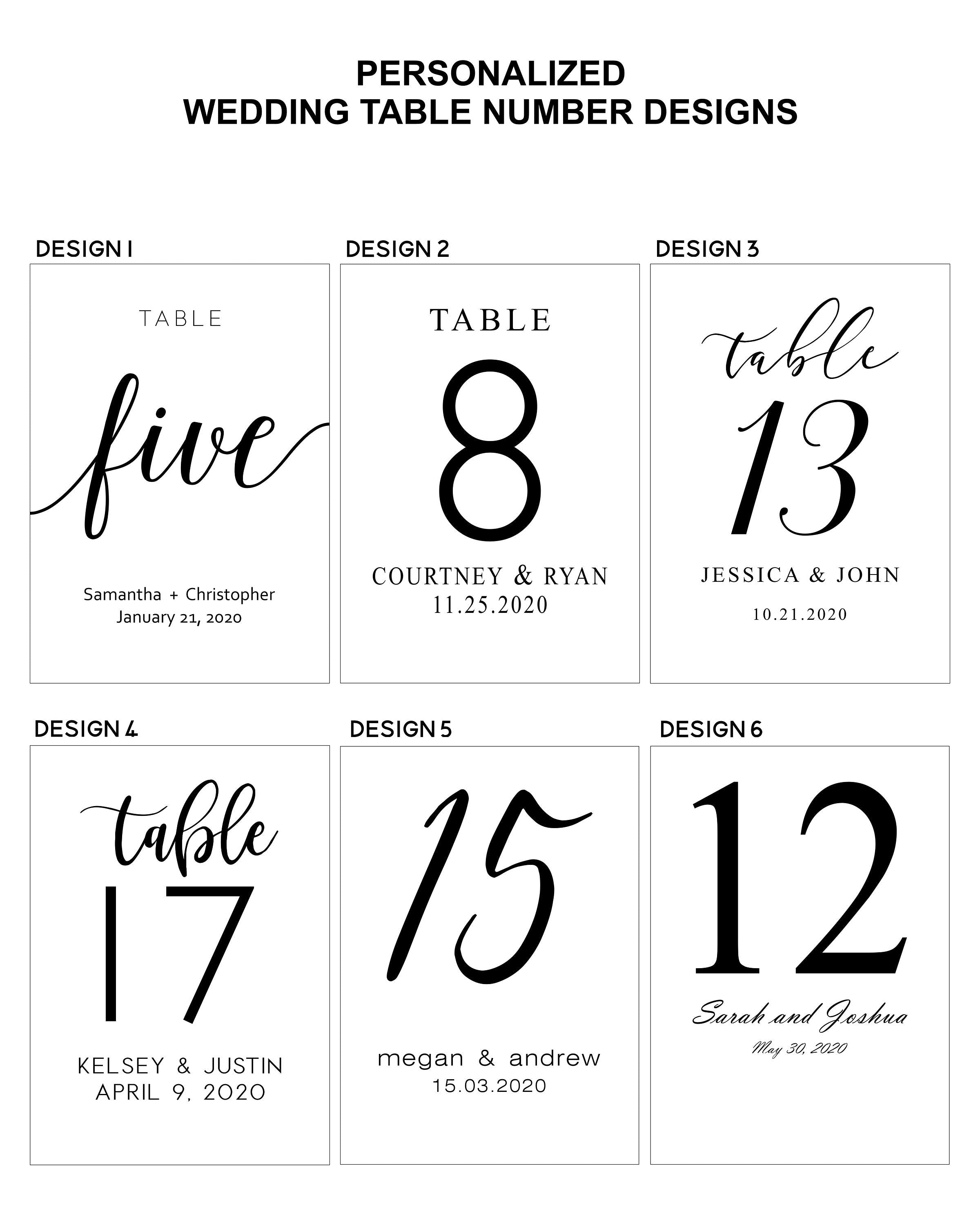 Clear Acrylic Table Numbers 2