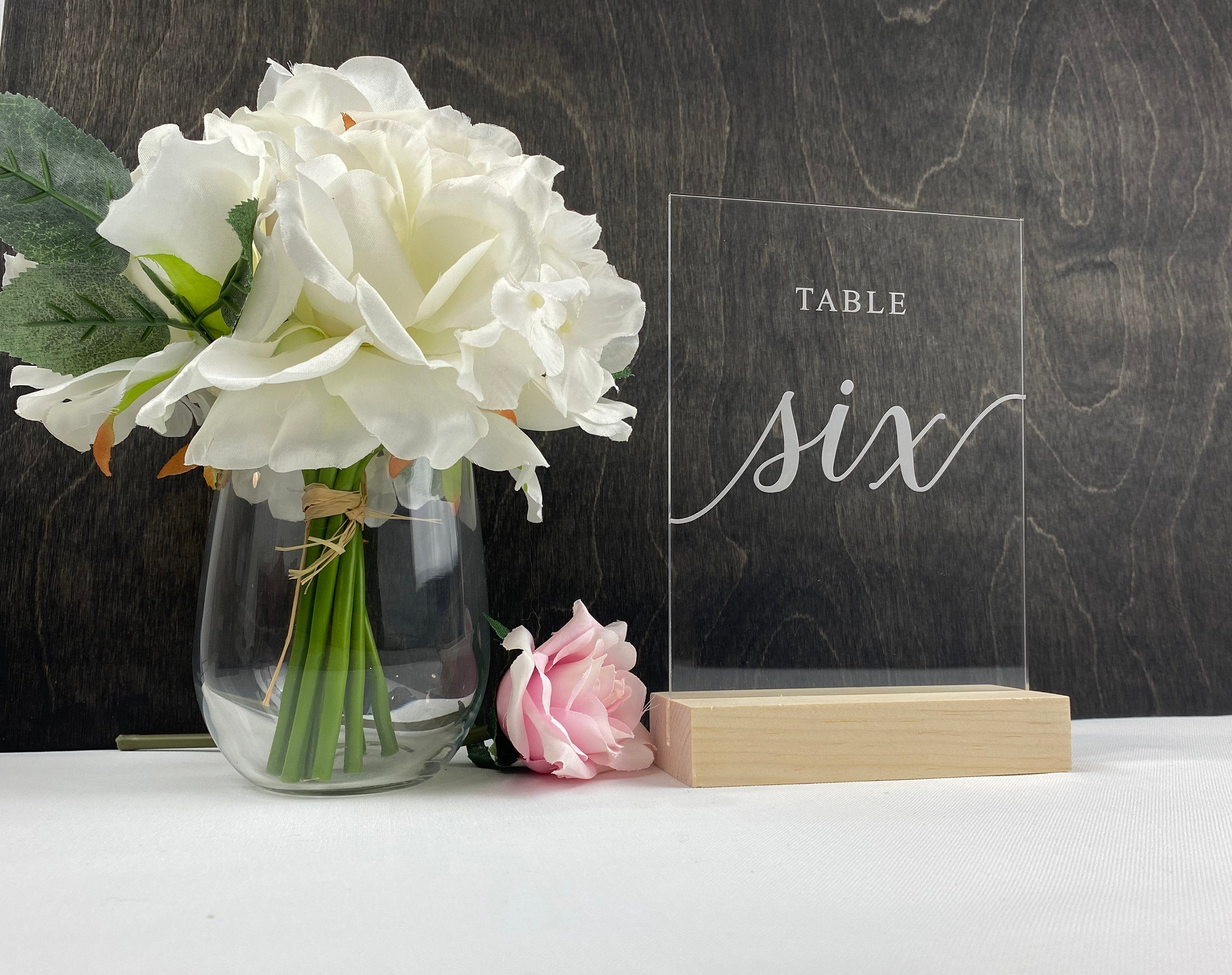 Clear Acrylic Table Numbers