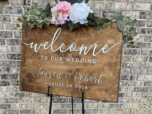 Wedding Welcome Sign 2