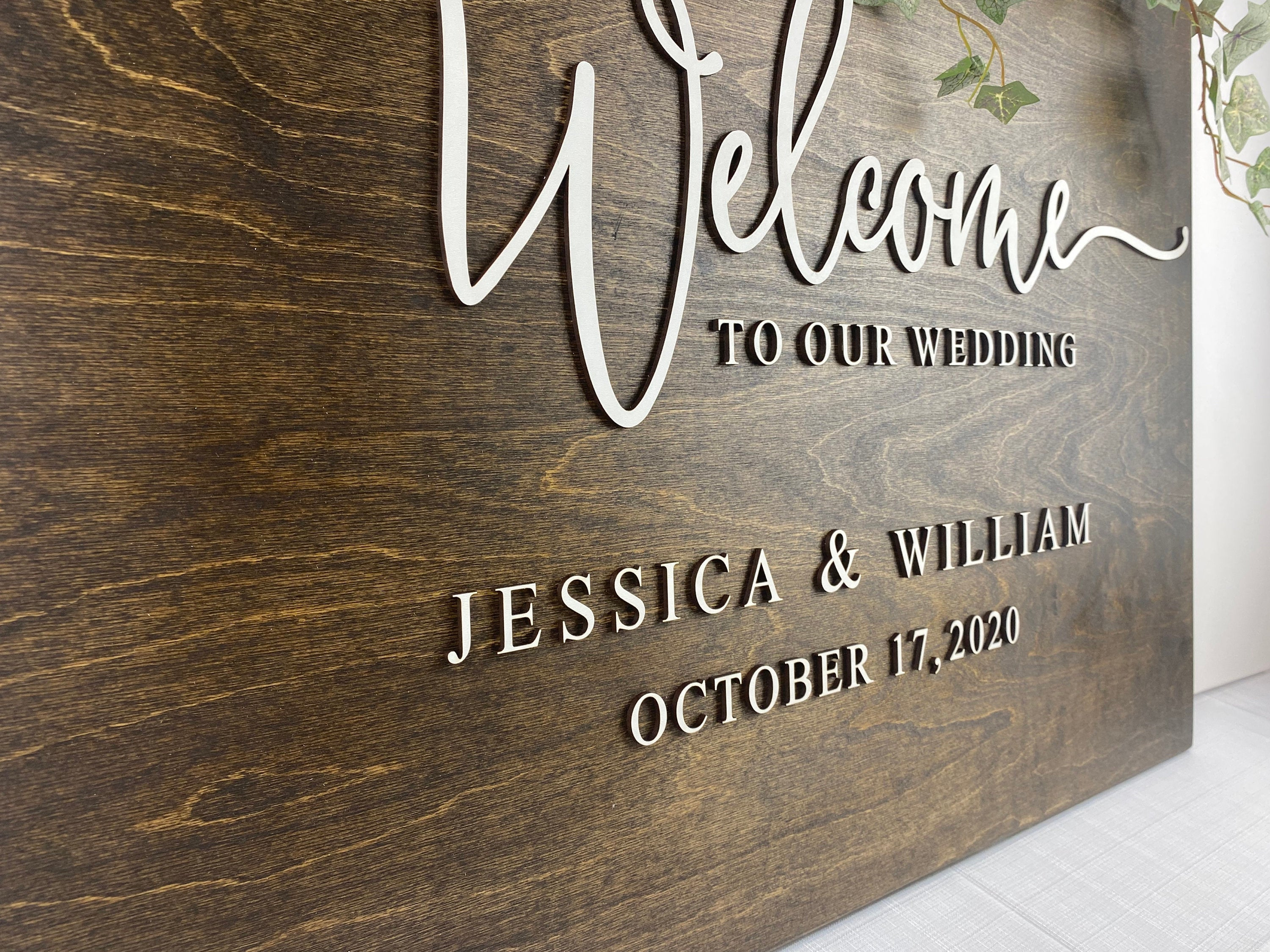 Wedding Welcome Sign 3