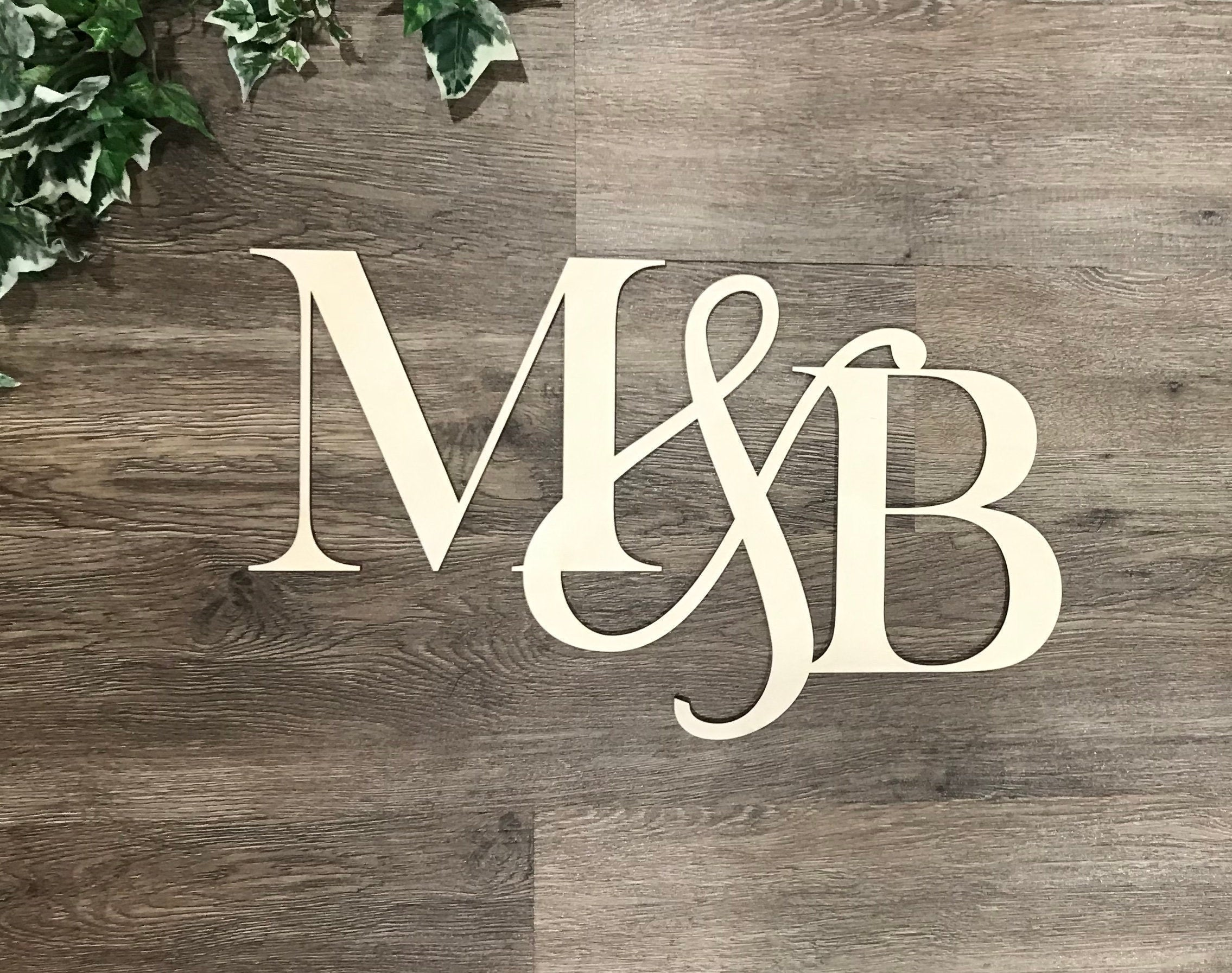 Personalized Initials Wood Cutout