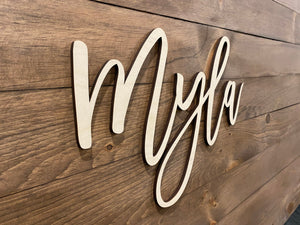 Baby Name Wood Cutout