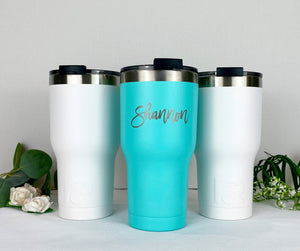 Personalized RTIC Tumbler | Laser Engraved Tumbler | Custom Tumbler with Monogram | Christmas Gift