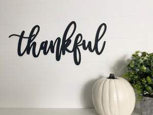 Thankful Wood Sign, Wood Cut Out, Thankful Wood Cut Out, Thankful Sign