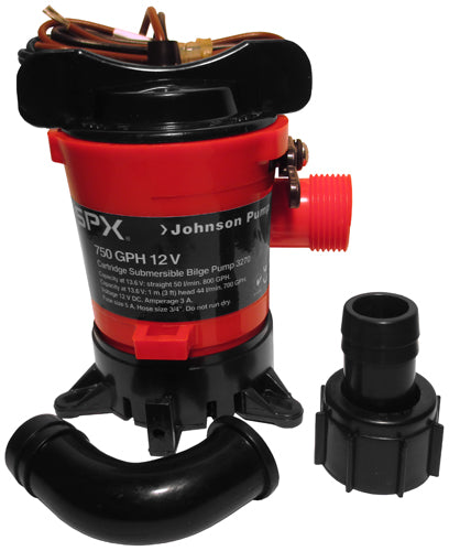 PUMP BILGE JOHNSON 750GPH 12 VOLT