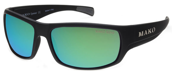 MAKO ESCAPE BLACK GREEN MIRROR GLASS