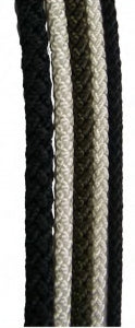 ROPE 8 PLT 5MM BLACK PER MTR