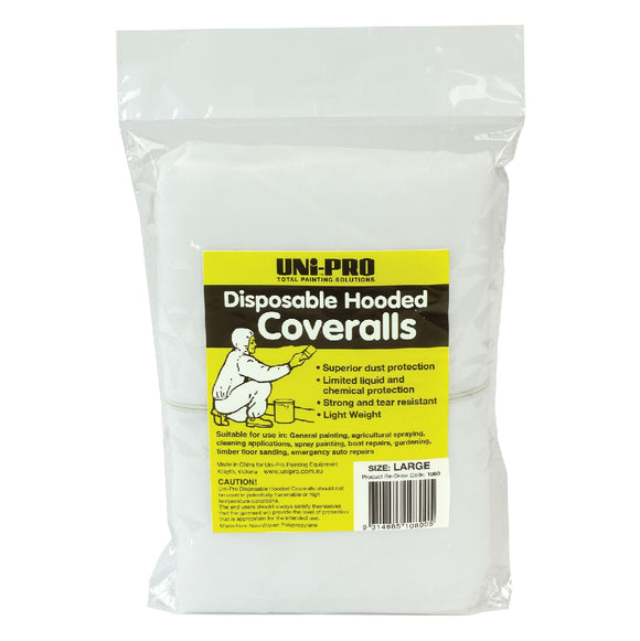 DISPOSABLE COVERALLS-LARGE