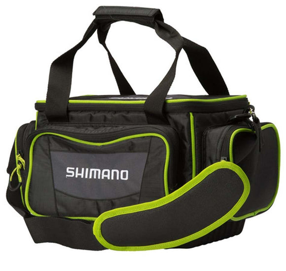 TACKLE BAG SHIMANO MEDIUM BLACK/GREEN LUGGAGE