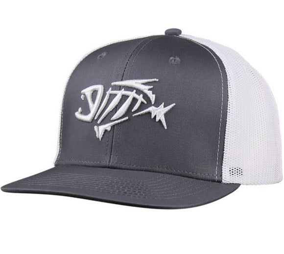 HAT G LOOMIS GREY/WHITE TRUCKER