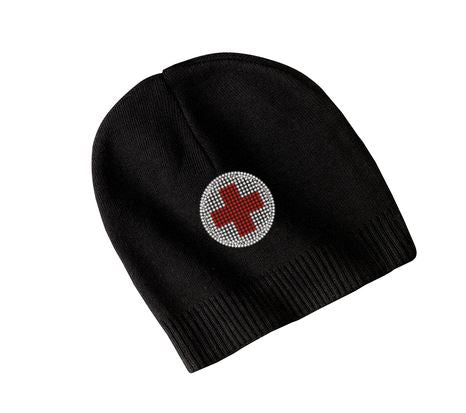 American Red Cross Official Bling Logo Beanie