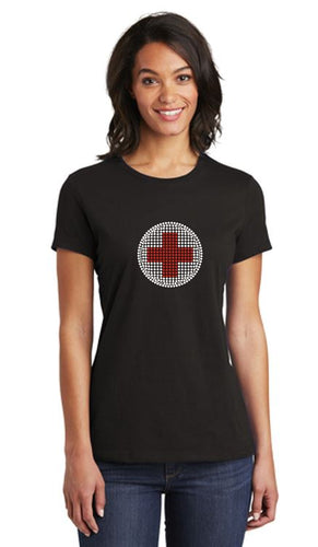 American Red Cross Official Bling Ladies Fit Crew