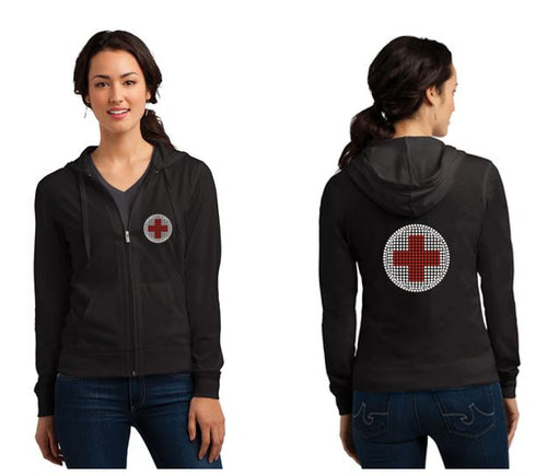 American Red Cross Official Bling Logo Jersey Hoodie