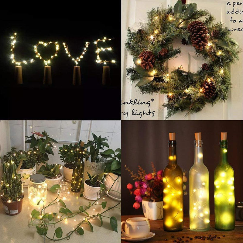 LED bottle light cork night light DIY deco gift