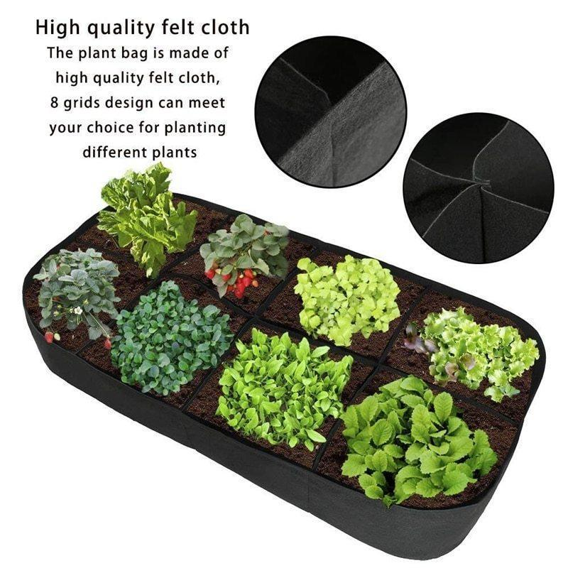 Divided Fabric Raised Bed