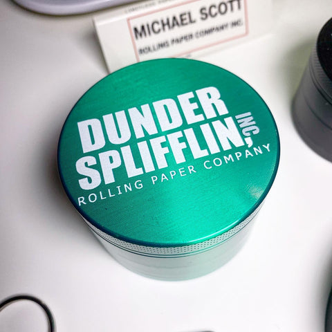 Dunder Splifflin 63mm Green Metal Herb Grinder 4/20 Special