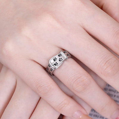 personalized footprint ring