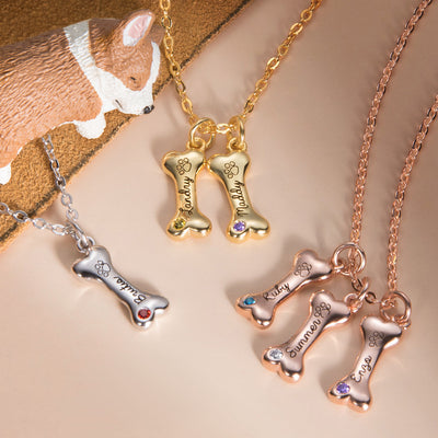 Personalized Exquisite Name Dog Bone Necklace