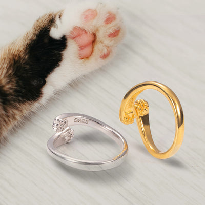 Personalized Cat Paw Hug Ring