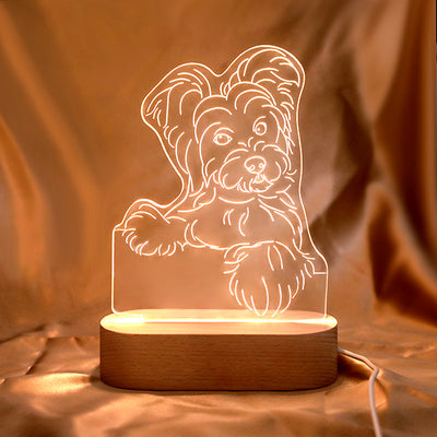 Personalized Pet Sketch Night Light
