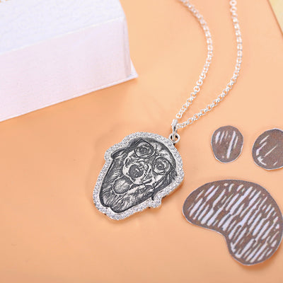 silver photo jewelry for pet lovers