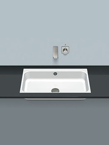 Flush built-in washbasin, rectangular