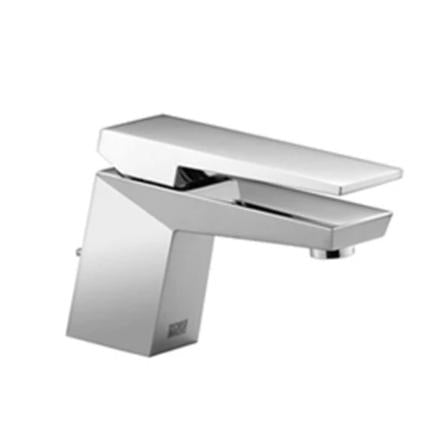 Single-lever basin mixer with pop-up waste