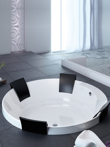 Built-in bathtub, 1800mm ø, round