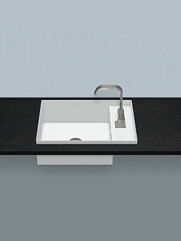 Built-in washbasin, rectangular