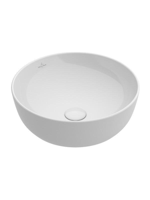 Surface-mounted washbasin, round