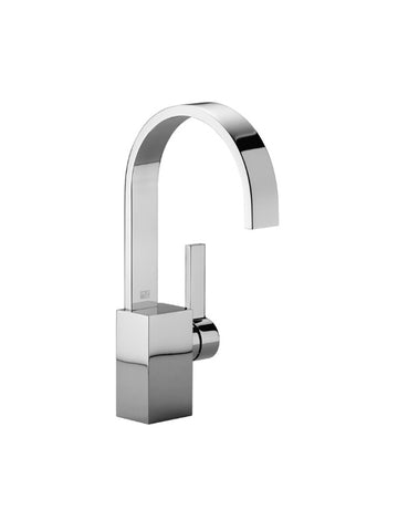 Single-lever basin mixer without pop-up waste