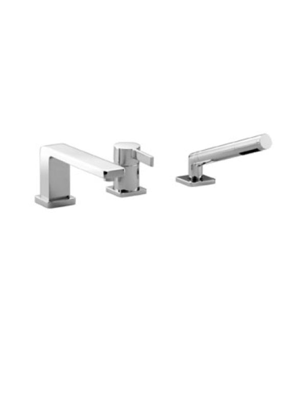 Three-hole single-lever bath mixer