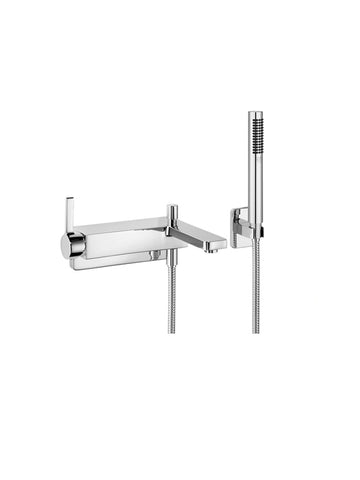 Single-lever bath mixer for wall-mounting with shower set