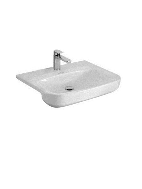 Semi-recessed washbasin, 555 x 450mm
