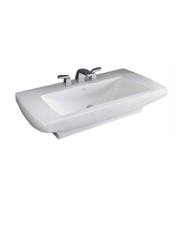 Surface-mounted washbasin, 750mm x 550mm