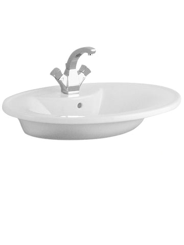 Surface-mounted washbasin, 750mm x 520mm