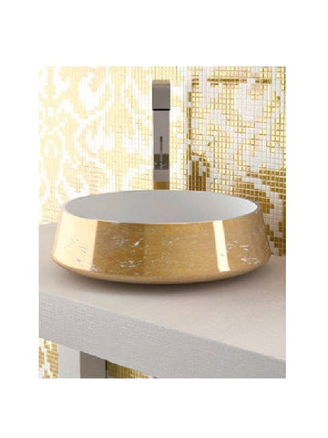 Countertop washbasin, round