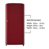 Samsung 192 Ltr 1 Star RR19H10C3RH Single Door Refrigerator