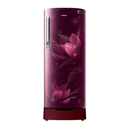 Samsung 212 Ltr 4 Star Direct Cool Single Door Refrigerator RR22N287YR8 Digital Inverter Technology
