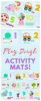 Cute Counting Activities using Play Dough Activity Mats