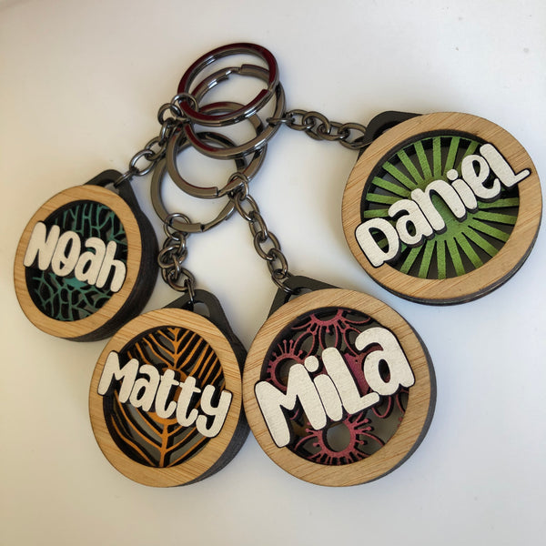 Custom Name Keyrings - Mix and Match