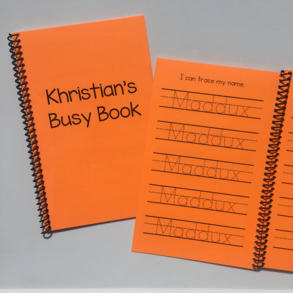 Personalized Busy Book