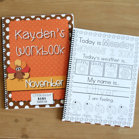 Personalized November Workbook