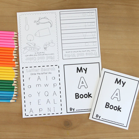 Foldable Alphabet & Number Books | Digitial Download