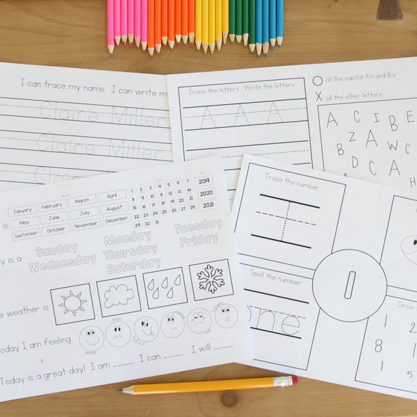 Personalized Workbook for Prek- Kindergarten